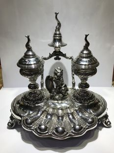 Inkstand in silver - Damian Garrido - Spain - late 20th century