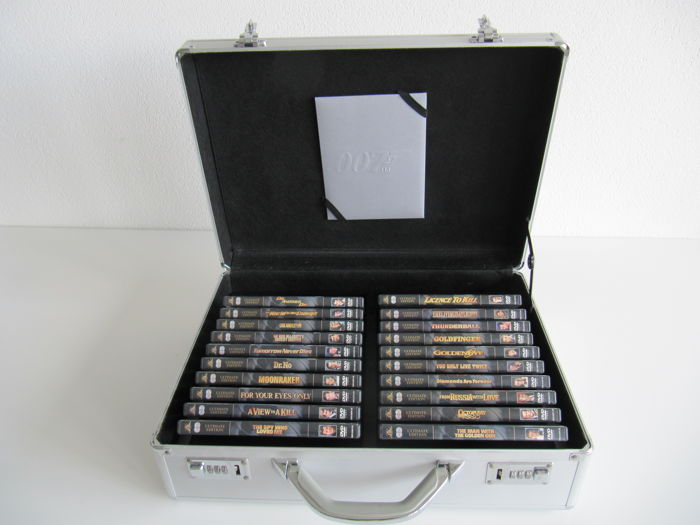 James Bond DVD collection in special limited edition suitcase