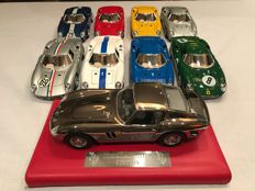 Bburago - Scale 1/18 - Lot with 9 x Ferrari: 8 x Ferrari 250LM and 1 x 250 GTO