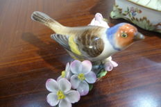 Herend - Porcelain bird and jewellery box