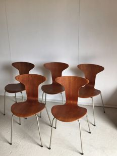 Arne Jacobsen for Fritz Hansen - Stacking chairs, 'Mug' model 3105 ( 5x )