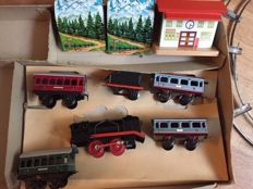 Beckh, US Zone-Western Germany - 0-Gauge - Tin/plastic clockwork Train Set, 1950s