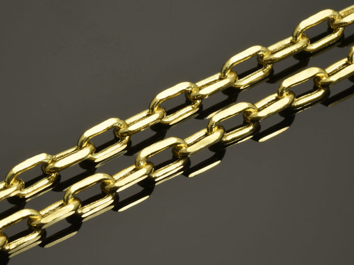18k Gold Necklace. Chain - 50 cm. Weight 5.15 g.