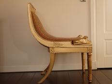 Neo Empire Seat, gold lacquered, late 20th century