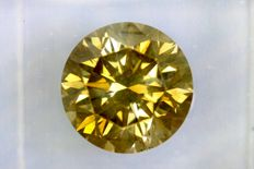 * NO RESERVE PRICE *  Fancy INTENSE Greenish Yellow -  3.35 ct - SI2