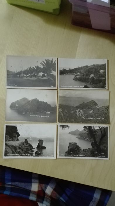 Lot of 10 postcards with rare views of the Ligurian riviera
