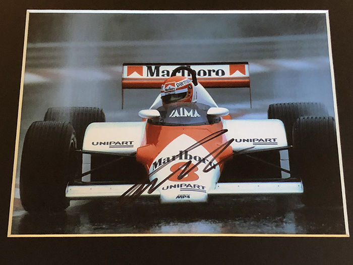 Nice framed image, personally signed by Niki Lauda