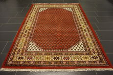 Grand hand-knotted Orient Palast carpet Sarough Mir 180 x 240 cm, made in India, best highland wool