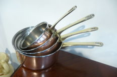 Brass and copper 4 frying pan (3449 g)