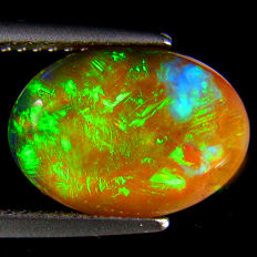 Black opal - fine quality 13 X 9.3 X 4.1 mm 2.39 ct