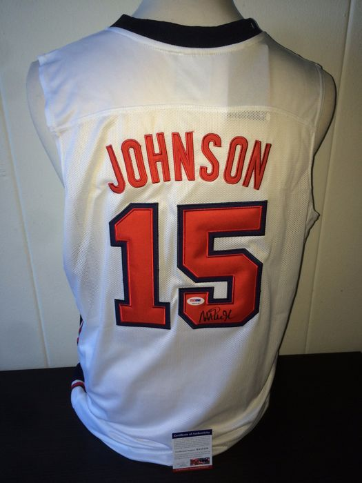 Magic Johnson Hand Signed USA 1992 Dream Team Jersey + COA PSA/DNA.