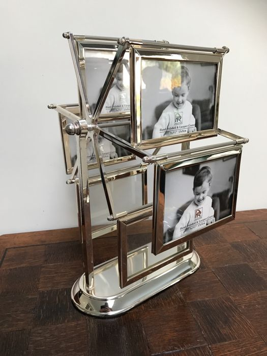 Italian silver plated photo carousel, 1980