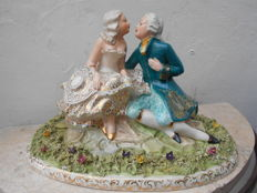 Delle Piane - Porcelain sculpture - Lovers
