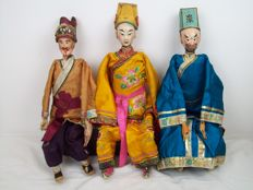3 opera dolls Chaozhou doll opera doll - China - Second half 20th century