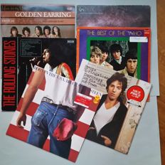 6X LP; Bruce Springsteen 2X, The Who, The Rolling Stones, Golden Earring, Genesis