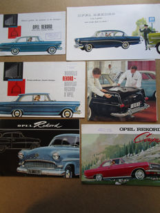 OPEL Rekord - Lot of 6 authentic brochures - circa 1960
