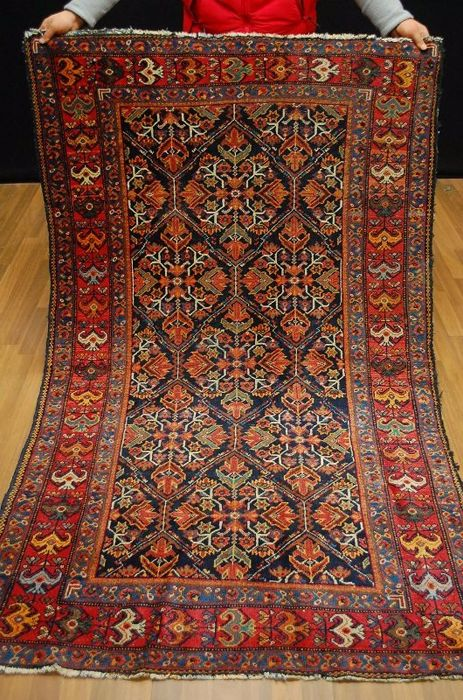 ANTIQUE RUG SAROUGH MAHAL  IRAN around 1930