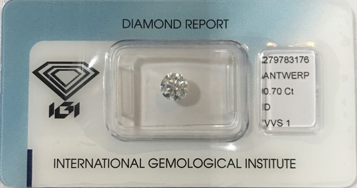 0.70 ct Round Brilliant Diamond DVVS1 IGI Serial# 18116 -original-image-10X