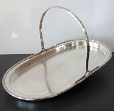 Christofle, France - Gallia silversmiths - platter/tray with handle - Numbered - Circa 1908 to 1929