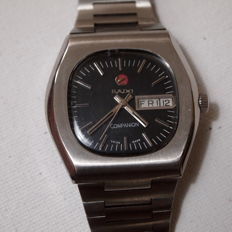 RADO 'Companion' - Hooded, Faceted Stainless Steel Case, Automatic Gents Swiss Wrist Watch. c.1960s'