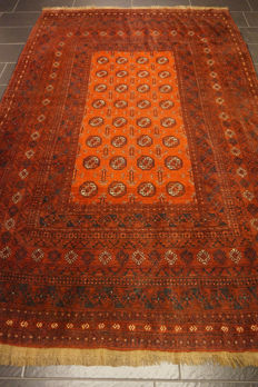 Wonderfully beautiful antique hand-knotted Art Deco Afghan oriental carpet, 200 x 300 cm, Afghan, made in Afghanistan
