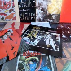 Set of 13 New wave/punk/pop albums; by Talking Heads, REM, Tom Waits, Cure, Kraftwerk, Talk Talk and others.