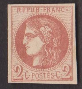 France 1870 – Bordeaux issuance – Yvert no. 40b