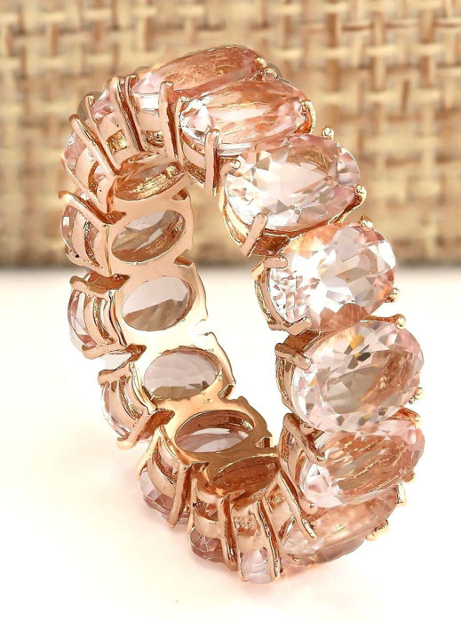carat morganite ring in 14k solid rose gold ring. Black Bedroom Furniture Sets. Home Design Ideas
