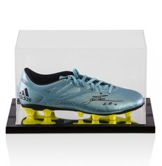 Lionel Messi Signed Adidas 15.1 Football Boot In Acrylic Display Case with Mirror effect + A1 COA and Photoproof.