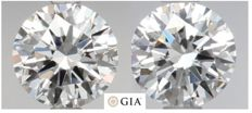 Round Brilliant  1.00 ct Total Weight DIF Pair with GIA- original image -10x #2301-1970