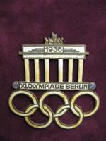Rare pin from the 1936 Olympic Games