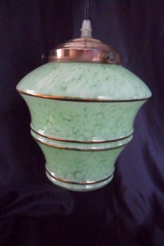 Green clouds lamp - Art deco style - France, 1930s