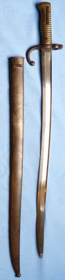 Very rare German Model 1866 Chassepot Bayonet – with matching numbers to hilt and scabbard
