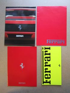 Ferrari - Lot of 4 brochures testarossa, 412, mondial, 328, turbo, F40, 348, 456, 512