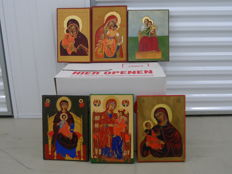 6 icons (Italian, Russian, Greek, Cypriot and Byzantine), late 20th century