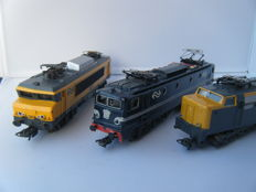 Lima H0 - 3x Electric locomotives series 1200, 1300 and 1600 of the NS