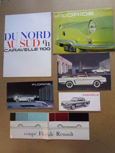 RENAULT Florida and CARAVELLE lot of 6 brochures around 1960