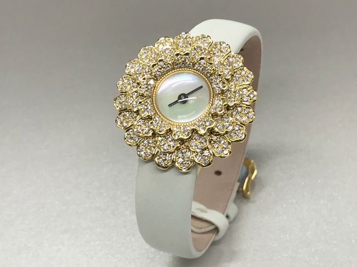 Buccellati ladies Diamond watch - 18k Yellow Gold with diamonds Bezel wat - 90C2-DN00-LS-YG - Women - 2011-present