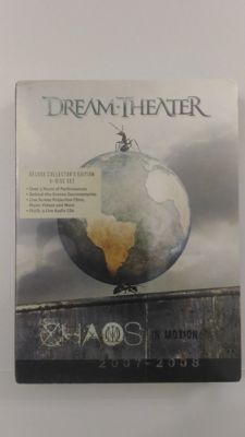 Dream Theater - Chaos in Motion 2007-2008 - DeLuxe Collector's Edition (Sealed) 5-Disc Set (2 DVD + 3 CD) + Systematic Chaos, Special Edition CD + DVD with DD 5.1 mix