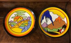 Limited edition - Bizarre - Clarice Cliff - set of 2 Wedgwood plates