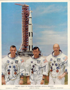 Apollo 10 signed photo