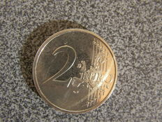 Netherlands - 2 Euro 2001 'Beatrix', monometallic, fluted edge (essai or striking error),