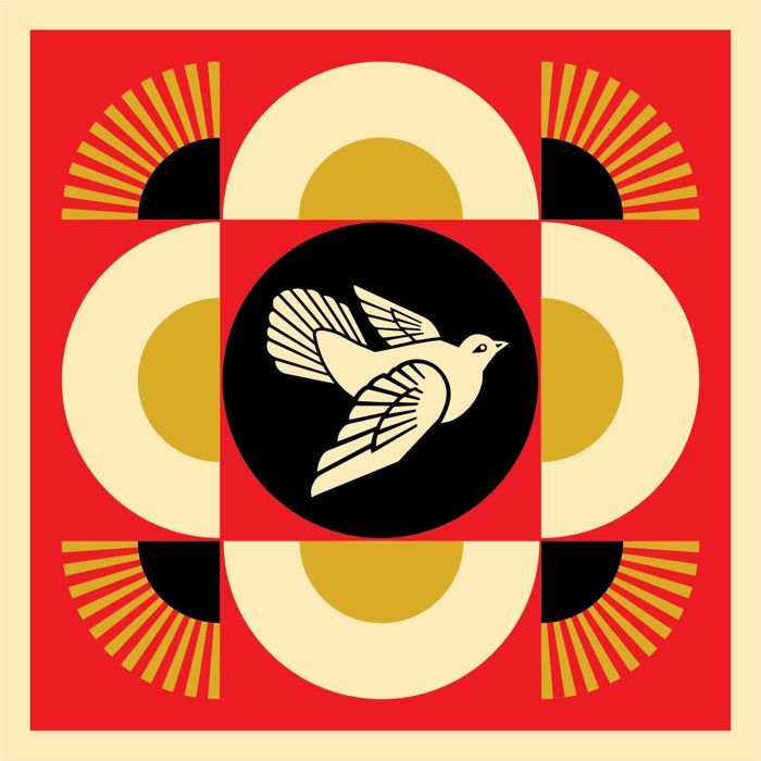 Shepard Fairey (OBEY) - Peace Dove Geometric ( Red )