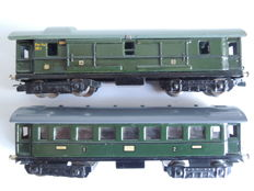 Märklin H0 - 341/344 - Baggage carriage and passenger carriage