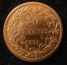 France - 20 Francs 1831 A (Paris) - Louis Philippe I - Gold