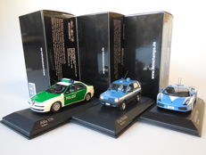 Minichamps - Scale 1/43 - Lot with 3 Italian service models: Alfa Romeo, Fiat & Lamborghini