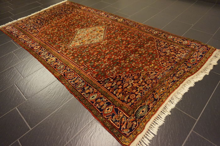 Unique old Persian carpet, Bijar, best wool, natural dyes, made in Iran, 230 x 340 cm