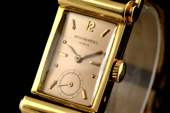 Patek Philippe - Rare Fancy Lugs Pink Gold - 18k - 2441 - Heren