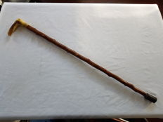 Walking cane with horn handle - The Netherlands - early 20th century