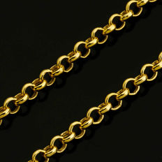 14 Kt Yellow Gold Rolo Chain 45 cm